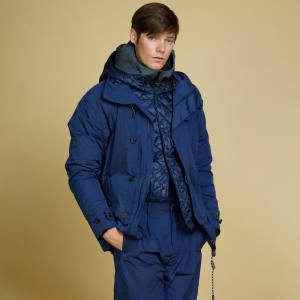 Zegna ocean-blue waxed-nylon cropped parka, £1,150