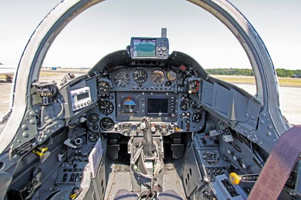 The cockpit of the T1 Gnat