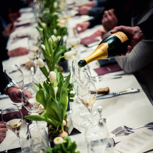 A Krug-paired dining experience