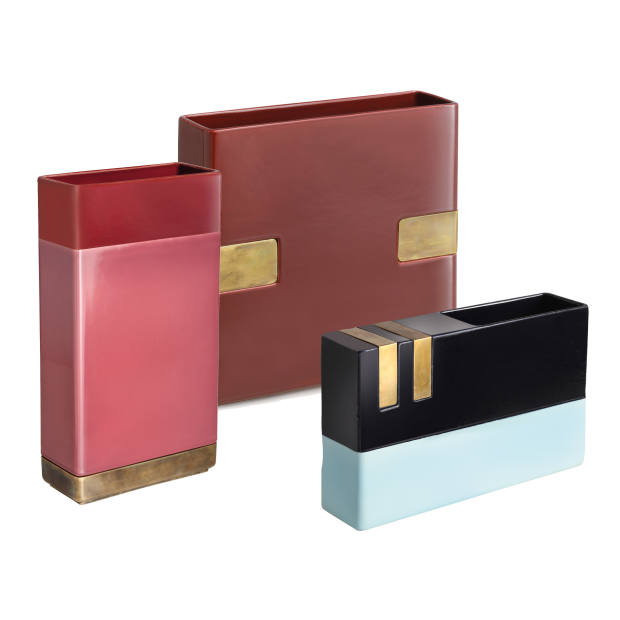 DimoreStudio for Bitossi Ceramiche ceramic and brass vases, from £564
