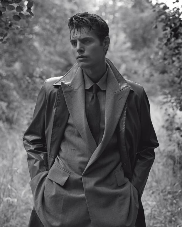 Dries Van Noten cotton-mix coat, £960, and silk/viscose tie,£140. Louis Vuitton polyester/wool Zoot Suit jacket, £2,270, andpolyester/wool DNA shirt,£1,090