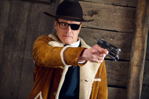 Colin Firth as Harry Hart, who sports Cutler and Gross eyewear, from £295, in the film
