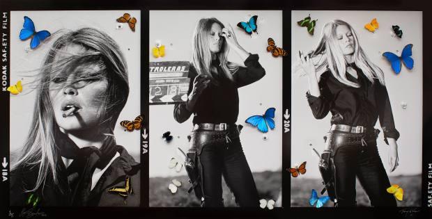 Brigitte Bardot by photographer Terry O'Neill and artist Bran Symondson, £17,500