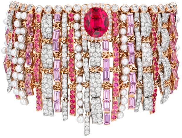 Chanel gold, platinum, diamond, sapphire, pearl and spinel Tweed de Chanel bracelet, POA