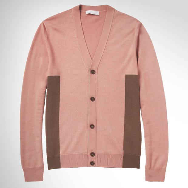 Alexander McQueen wool/silk panelled cardigan, £615