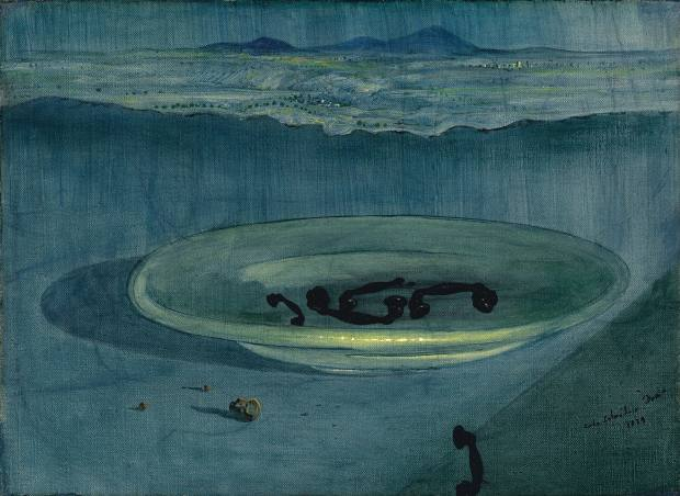 Salvador Dalí's Landscape with Telephones on a Plate, £1.1m-£1.3m