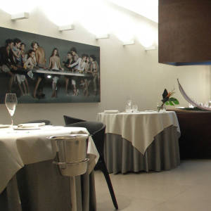 The Michelin-starred Ristorante Parizzi.