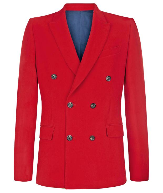 Connolly crepe double-breasted suit jacket, £900