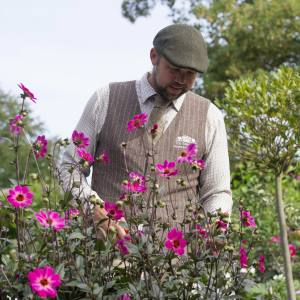 Plantsman Steve Edney in the Salutation Gardens
