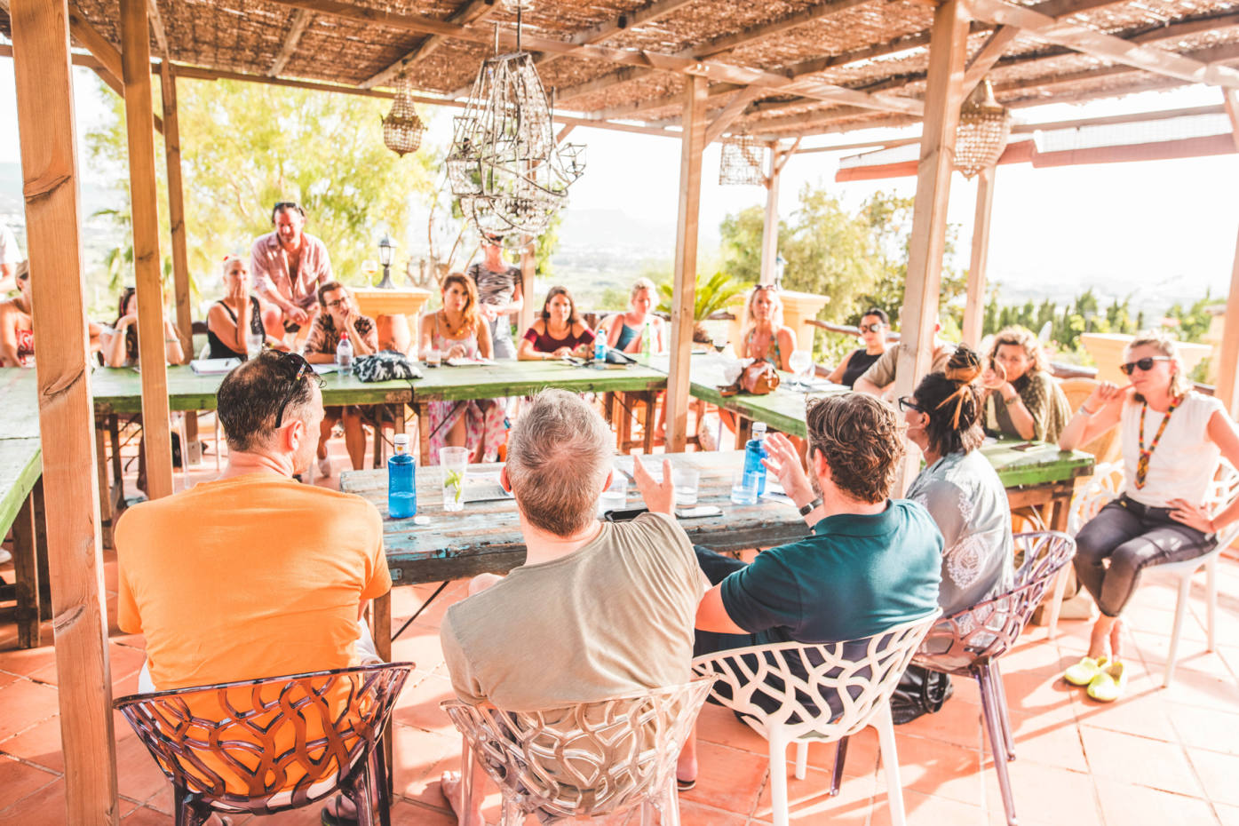 A workshop at last year's Pikes Literary Festival in Ibiza