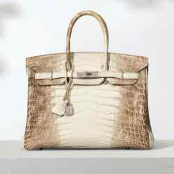 Rare Hermès 2010 Niloticus crocodile Birkin 35 with 18ct white-gold and diamond hardware, estimate £100,000-£150,000