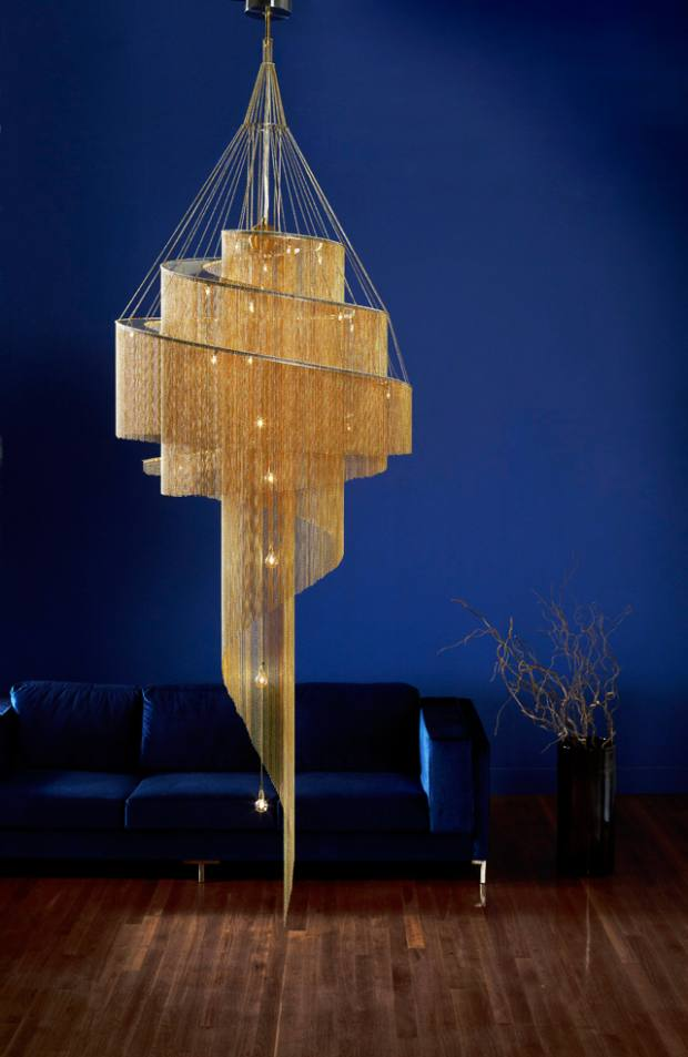 Willowlamp Spiral Nebula in brass, £11,539