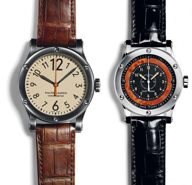 From left: Ralph Lauren Safari and Automotive Chronometer