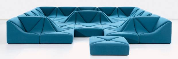 Dune sofa, shown with 25 pieces, from $5,400 to $8,220 per module