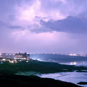 Cornwall's Headland hotel on the Atlantic coast is organising storm-watching breaks this winter