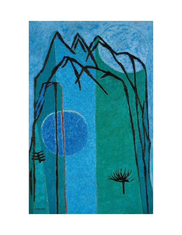 Montagne Bleue (Blue Mountain), 1956, by Kim Whan‑Ki, sold for $1.79m at Christie's Hong Kong