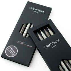 Caran d'Ache Crayons de la Maison, £29.95 per set, are imbued with Tibetan-wood perfume