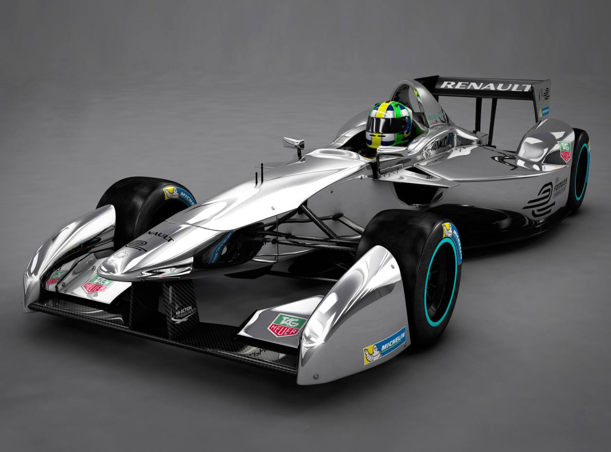 The Spark-Renault SRT 01E Formula E prototype electric racing car is capable of 140mph, with a 0-62mph time of less than three seconds