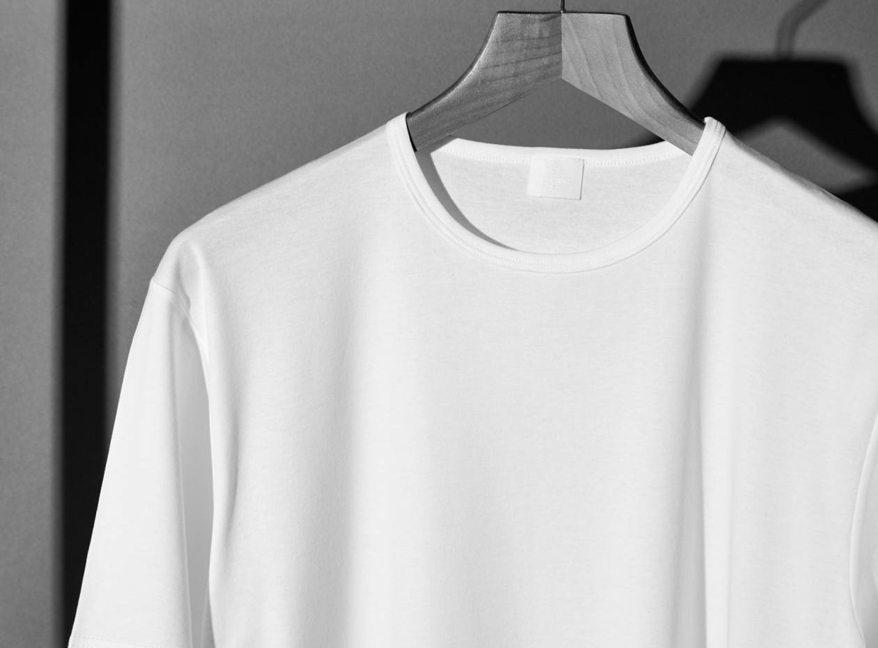The Sunspel T-shirt, made in England since 1890, crafted in a fine, long staple Pima cotton