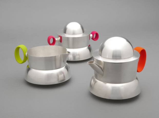 Simon Pattison's unusual Dalek-inspired tea set, £7,300, was a special commission.