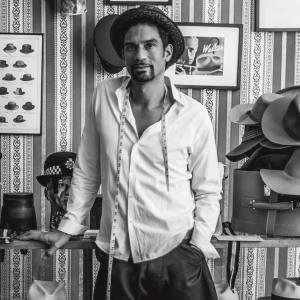 Orlando Palacios in his showroom in New York