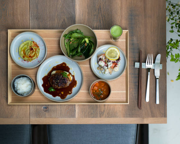 Dishes from a seasonal set menu, from about £20, at Trunk Kitchen