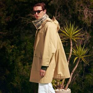 Cotton-drill hybrid safari cape, £795