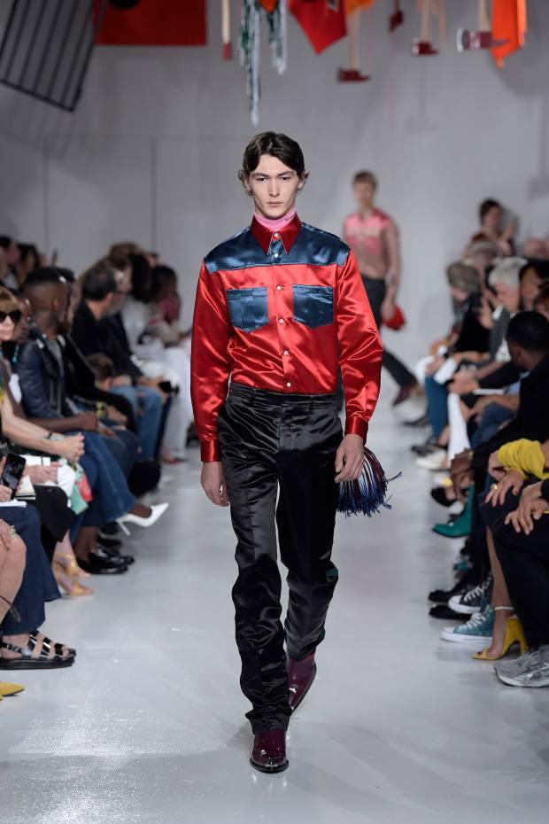 Calvin Klein acetate satin shirt, £730