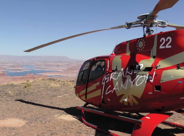 A helicopter trip to Tower Butte offers outstanding vistas