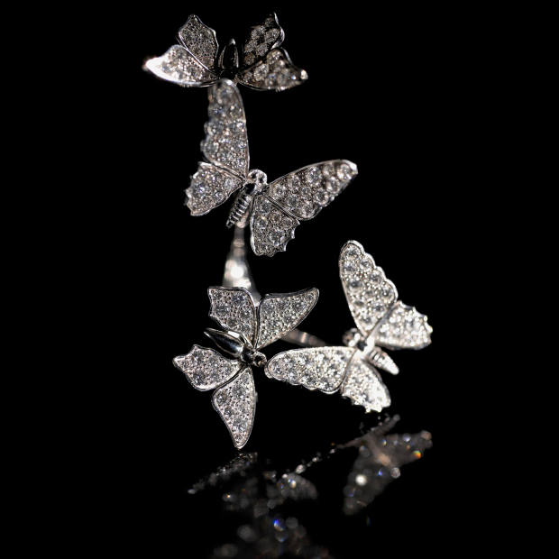 The butterfly-based diamond and white-gold Envol ring, £22,000