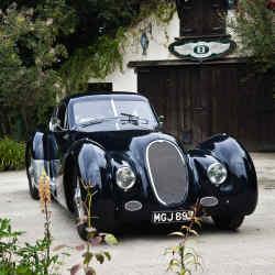 The art deco lines of the Dartmoor Bentley.