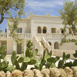 A villa at Borgo Egnazia, the new luxury resort near the seaside village of Savelletri di Fasano.