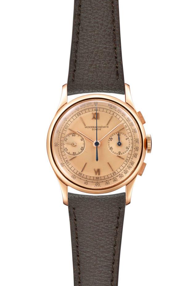 Vacheron Constantin 18-carat rose gold chronograph wristwatch, ref 4072, made in 1942, £20,000 to £30,000
