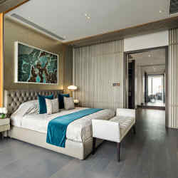 One of the Kelly Hoppen-designed apartments at One Shenzhen Bay, from about £8m