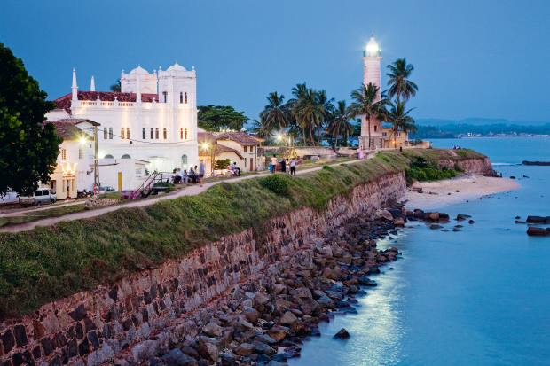 The city of Galle's Unesco-protected fort and lighthouse