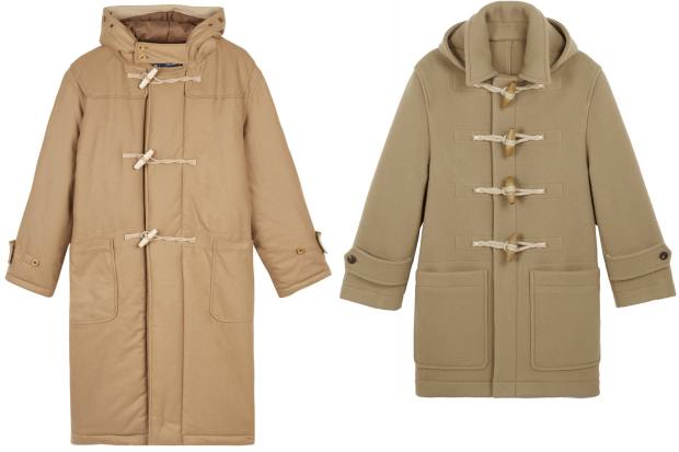 From left: Gloverall wool Portsmouth coat, £399. Ami wool coat, £1,280