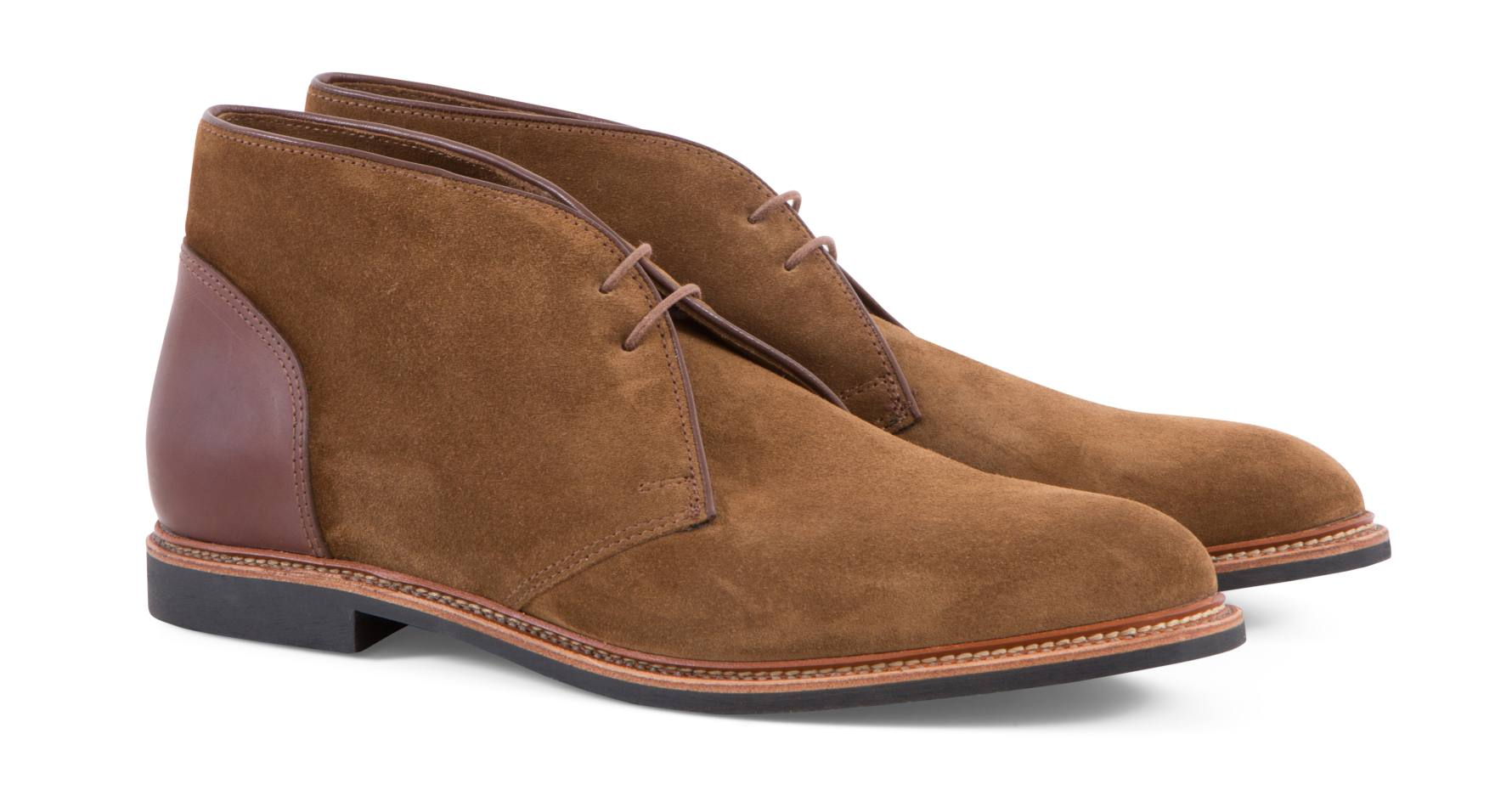 Roadstar suede and cordovan boots, £498