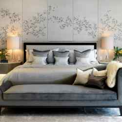 Fromental silk Keats headboard for Morpheus London, £660 per sq m