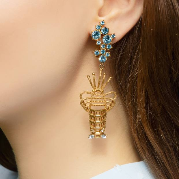 SoniaPetroff gold-plate andcrystal Lobster earrings, £395