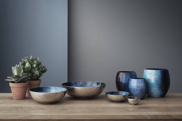 The Stockholm series ofbowls and vases designed by the duo for Danish design company Stelton