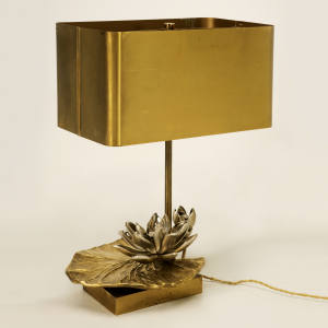 c1968 Maison Jansen water lily lamp, $5,800 at Old Plank