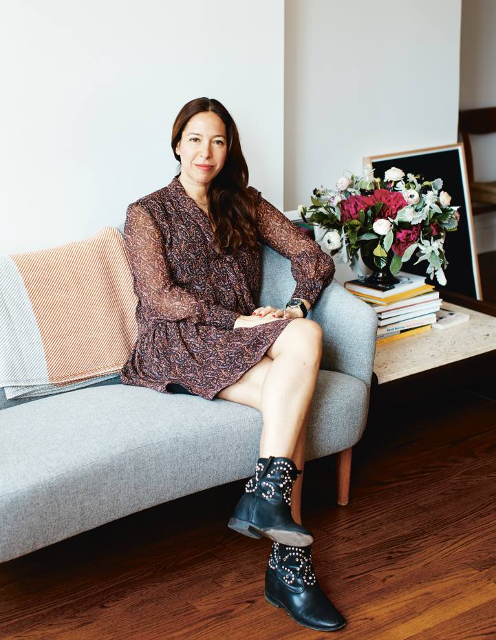 Pilar Ordovas in her apartment in New York