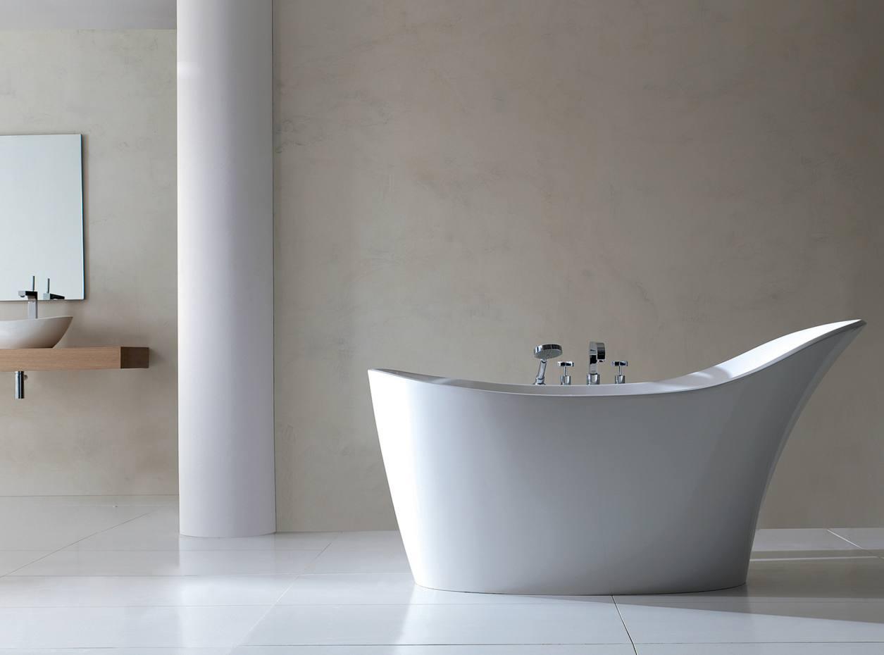 Victoria & Albert's Quarrycast Amalfi tub, from £2,500, from NGI Design.