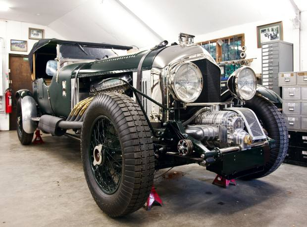 """The """"Monster"""" Bentley with 27-litre Meteor engine."""