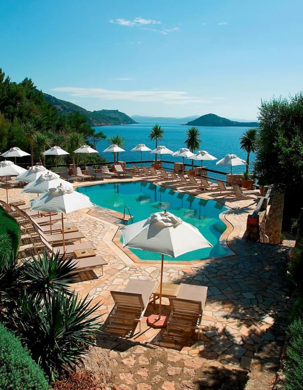 The heated pool at Hotel Il Pellicano, Porto Ercole
