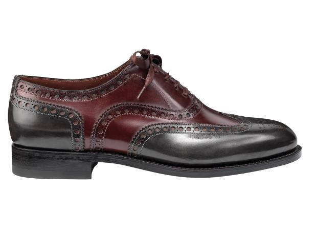 Santoni calfskin Colin Oxford shoes, $985. Made to order