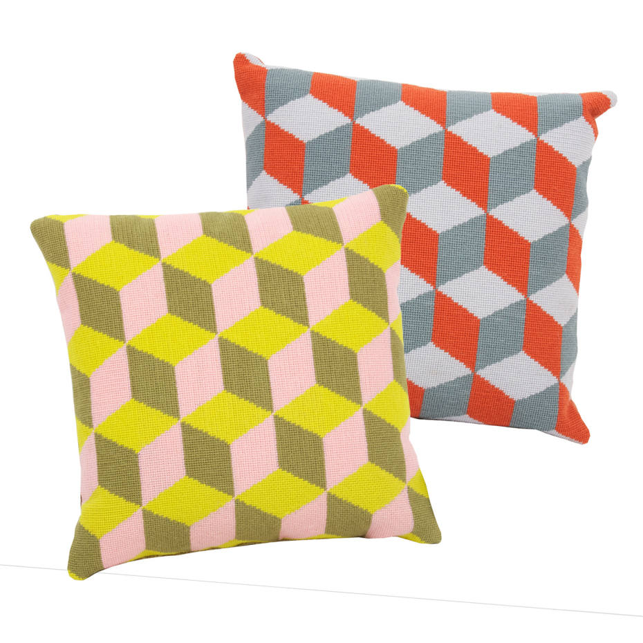 Pentreath & Hall/Fine Cell Work cushions, £95; about a third of the sale price goes to Fine Cell Work (www.finecellwork.co.uk). www.pentreath-hall.com
