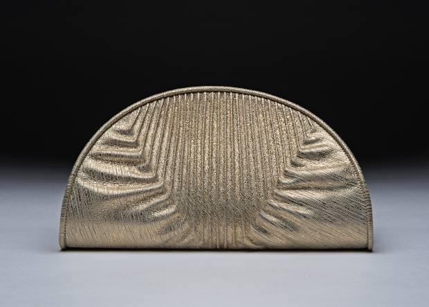 Deni-Deni kid-suede Luna clutch, £800