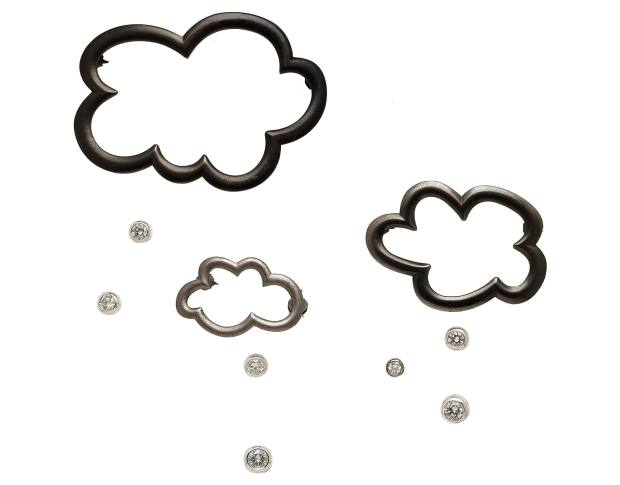 Cora Sheibani blackened-silver, silver and diamond Black Cloud brooch set, from £10,000