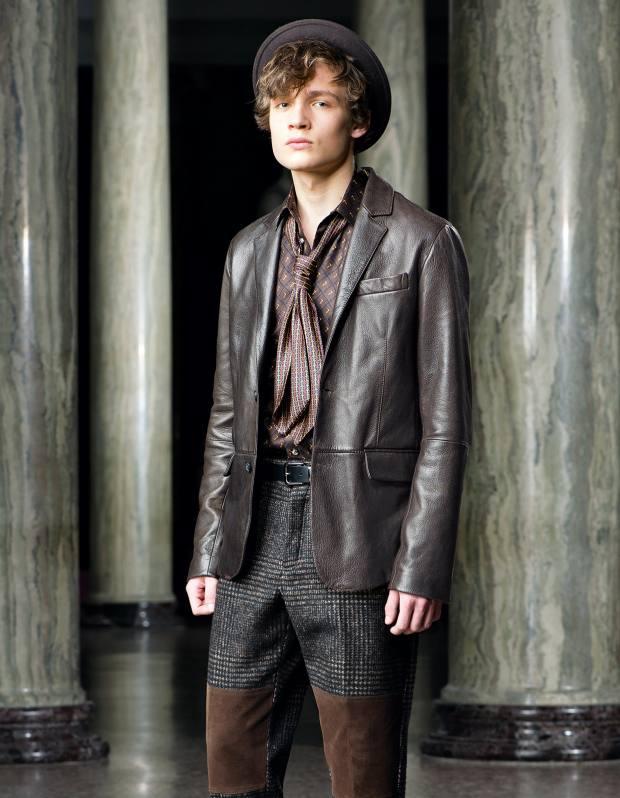 Trussardi nappa leather blazer, about £1,500